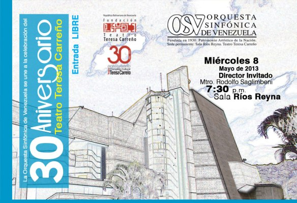 30 aniversario Teatro Teresa Carreño