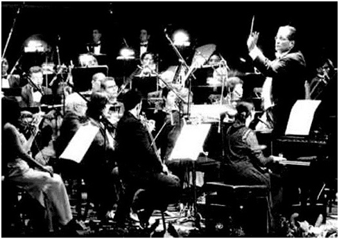 Felipe Izcaray, Guiomar Narvaez y la OSV en el concierto del 75 aniversario, 23 de Junio de 2005