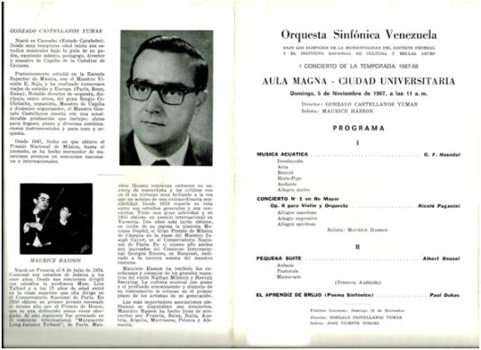 Programa del 5 de Noviembre de 1967